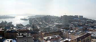 Panorama of Vladivostok (Golden Horn Bay)